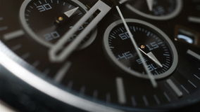 Chronograph Watch. With Second Arrow. Extra Close Up stock video