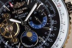 Chronographe de luxe de Breitling - temps photo libre de droits