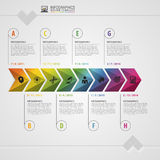 Chronologie colorée de Timeline Calibre de conception d'Infographic Concept moderne Illustration de vecteur illustration stock