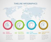 Chronologie de graphique de gestion avec des étapes de processus Calibre d'infographics d'organigramme de progrès de vecteur illustration libre de droits