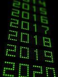 Chronologie 2019 de nouvelle année illustration stock