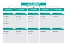 Chronologie de subdivision de division de catégories de gestion de diagramme d'arbre d'Infographic illustration libre de droits