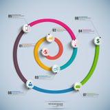 Chronologie en spirale Infographics Photo stock