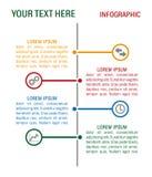 Chronologie et icônes de conception d'Infographics réglées Images stock