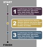 Chronologie Infographic Stock Afbeeldingen
