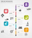 Chronologie Infographic Royalty-vrije Stock Foto
