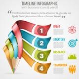 Chronologie Infographic Royalty-vrije Stock Fotografie
