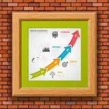 Chronologie Infographic d'affaires Photo libre de droits