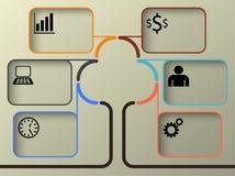 Chronologie Infographic, illustration de vecteur Photos stock