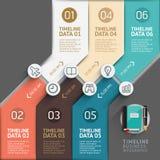Chronologie infographic malplaatje Royalty-vrije Stock Afbeeldingen