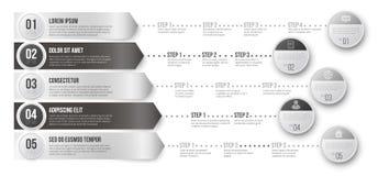 Chronologie infographic malplaatje Stock Afbeeldingen