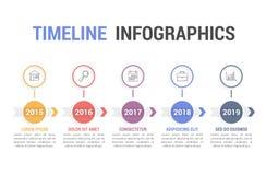 Chronologie Infographics Stock Foto's