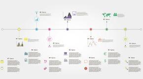 Chronologie Infographics Stock Afbeeldingen