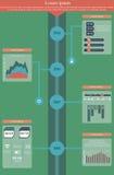 Chronologie Infographics Royalty-vrije Stock Afbeeldingen