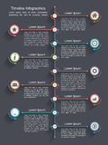 Chronologie Infographics Image stock