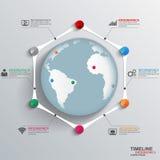 Chronologie Infographics Images libres de droits