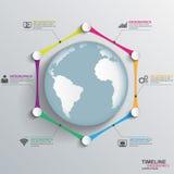 Chronologie Infographics Photographie stock libre de droits