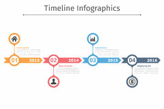 Chronologie Infographics Royalty-vrije Stock Fotografie