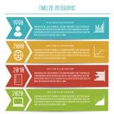Chronologie plate abstraite Infographic de vecteur Photo libre de droits