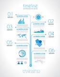 Chronologie pour montrer vos données avec des éléments d'Infographic Photographie stock libre de droits