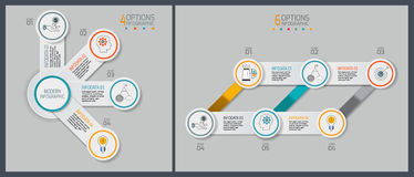 Chronologieinfographics ontwerp en marketing de pictogrammen kunnen voor werkschemalay-out, diagram, jaarverslag, Webontwerp word Royalty-vrije Stock Foto's