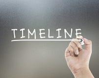 Chronologietekst Stock Fotografie