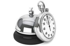 Chronomètre avec la cloche de service Image stock
