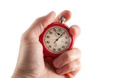 Chronomètre dans la main images libres de droits