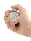 Chronomètre dans une main photo stock