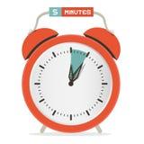 Chronomètre de cinq minutes - réveil illustration de vecteur
