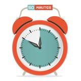 Chronomètre de cinquante minutes - réveil illustration libre de droits