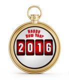 Chronomètre 2016 de nouvelle année Image libre de droits