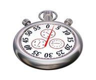 Chronomètre de sport de chrome sur le blanc Photographie stock