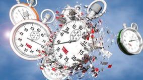 Chronomètre et temps Photographie stock