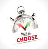 Chronomètre - heure de choisir Photo libre de droits