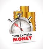 Chronomètre - heure de gagner l'argent Images libres de droits