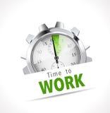 Chronomètre - heure de travailler Image libre de droits