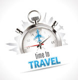 Chronomètre - heure de voyager Photos libres de droits