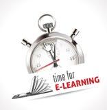 Chronomètre - heure pour l'apprentissage en ligne Photos libres de droits