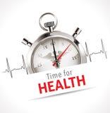 Chronomètre - heure pour la santé Image libre de droits