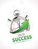 Chronomètre - heure pour le succès Images stock