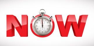 Chronomètre - le temps est maintenant Image stock