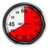Chronomètre métallique d'illustration Images libres de droits