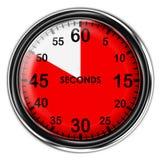 Chronomètre métallique d'illustration Images stock