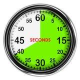 Chronomètre métallique d'illustration Photographie stock libre de droits
