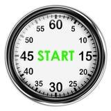 Chronomètre métallique d'illustration Image libre de droits