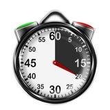 Chronomètre métallique d'illustration Photos libres de droits