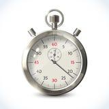 Chronomètre métallique réaliste illustration stock