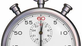 Chronomètre passant une minute illustration libre de droits