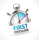 Chronomètre - première minute Images stock